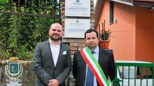 Rocco e Pelosi mezzo busto 1 Inagurazione piazza -Cittadinanaza Attiva Umanitaria--2