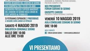 Locandina - formato WEB - Vi Presentiamo il nuovo Forum dei Giovani di Serino Maggio 2019-2