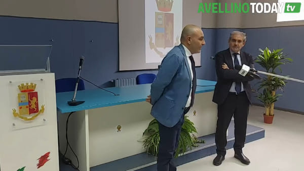 La Questura di Avellino presenta il nuovo dirigente della Squadra Mobile, Gianluca Aurilia