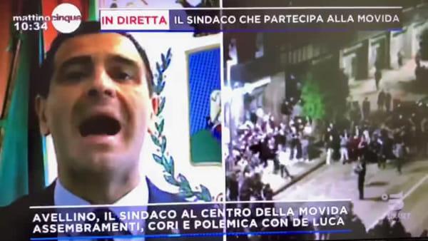 Festa ancora in TV a Mattino Cinque, opposizione in piazza