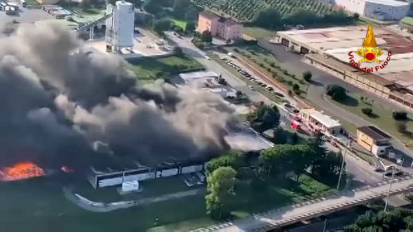 Incendio Pianodardine: il dramma ripreso dall'alto
