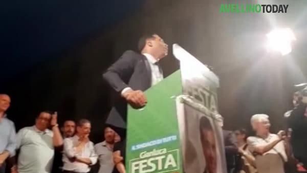 """Ballottaggio, Festa chiude la campagna elettorale: """"Liberiamo Avellino dal potere clientelare"""""""