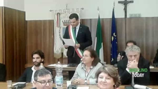 Consiglio comunale, il giuramento di Gianluca Festa