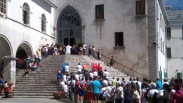 L'urna di San Domenico al Santuario di Montevergine