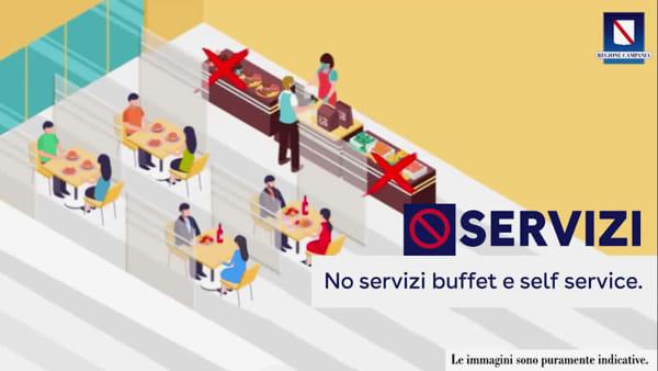 Riapertura ristoranti, le regole ufficiali nel Video della Regione Campania