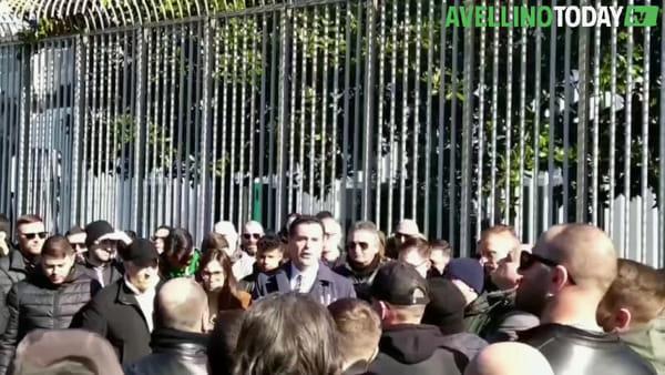 Us Avellino, il video dell'incontro tra Festa e la Curva Sud