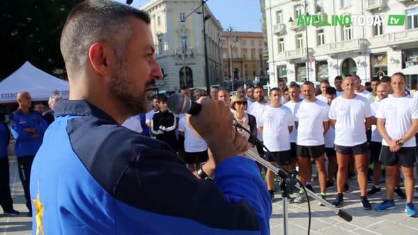 Esercito e cittadini si allenano insieme per le strade di Avellino: le immagini