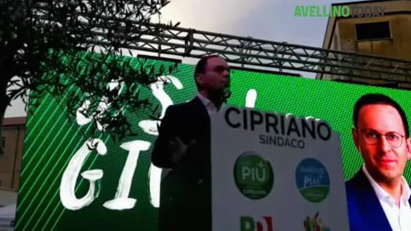 """Ballottaggio, Cipriano chiude la campagna elettorale: """"Chiudere il tempo delle polemiche"""""""