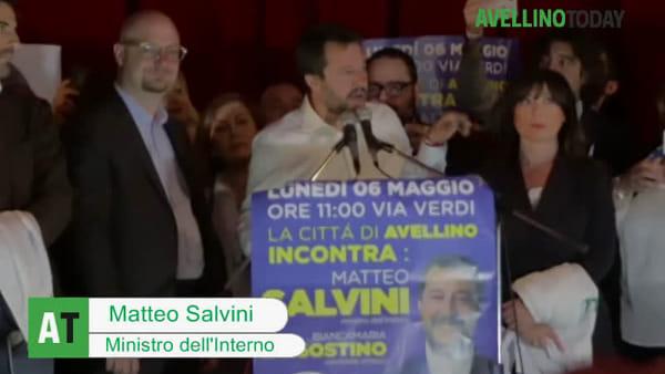 """Salvini ad Avellino: """"Questa città scelga il cambiamento"""""""